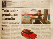 Fufão Teto Solar no Jornal do Carro